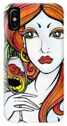 Woman With Glass IPhone Case