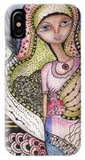 Woman With Large Eyes IPhone Case by Prerna Poojara