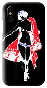 Woman With Red Cape - And Not Much Else IPhone Case