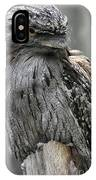 Wonderful Patterned Feathers On A Tawny Frogmouth Bird IPhone Case