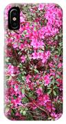 Wonderful Pink Azaleas IPhone Case