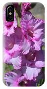 Wonderful Pink Gladiolus IPhone Case