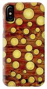 Wood And Gold IPhone Case
