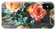 Wood And Roses IPhone X Case