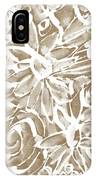 Wood And White Floral- Art By Linda Woods IPhone Case