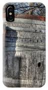 Wood  Barrel Oak Fermentation Whiskey Bourbon Cask Winter Snow Wood Faust Park IPhone Case