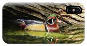 Wood Duck In Wood IPhone Case