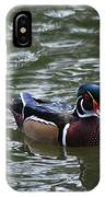 Wood Duck Male 20130924_258 IPhone Case