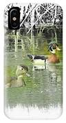 Wood Duck Pair Swimming. IPhone Case