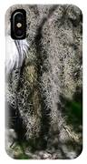 Wood Stork And Moss IPhone Case