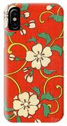 Woodblock Print Of Apple Blossoms IPhone Case