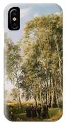 Wooded Landscape With A Group Of Figures In Costume IPhone Case