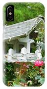 Wooden Bird House On A Pole 4 IPhone Case