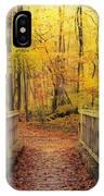 Wooden Bridge   Hdr IPhone Case