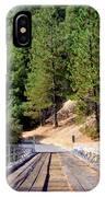 Wooden Bridge Over Deep Gorge IPhone Case
