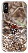 Wooden Butterfly IPhone Case