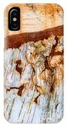 Wooden Landscape - Natural Abstract Structure IPhone Case