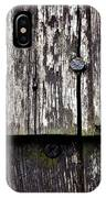 Wooden Plate With  Nails IPhone Case