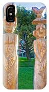 Wooden Sculptures In Central Park In Bariloche-argentina IPhone Case