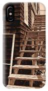 Wooden Stairs In Sepia IPhone Case