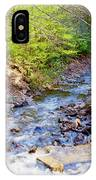 Woodland Stream And Waterfall, Hickory Run, Pocono Mountains IPhone Case
