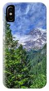 Woods Surrounding Mt. Rainier IPhone Case
