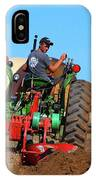 Working His Plow  IPhone Case