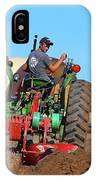 Working His Plow Two  IPhone Case