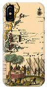 World Map 1707 IPhone Case