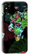 World Map Monstera Leaves  8 IPhone Case