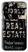 World Real Estate Chicago IPhone Case