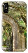 Wormsloe Gate IPhone Case