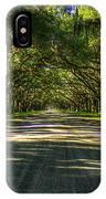Shadows Of Wormsloe Plantation Oak Avenue Georgia Art IPhone Case