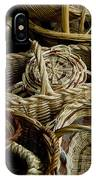 Woven Baskets For Sale At A Market IPhone Case