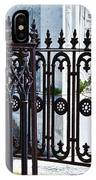 Wrought Iron Cemetery Fence IPhone Case
