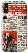 Wwii: Italian Newspaper IPhone Case