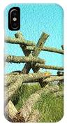 Wyoming Snow Fence IPhone Case