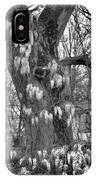Wysteria Tree In Black And White IPhone Case