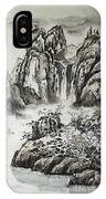 Yangze River With Water Fall IPhone Case