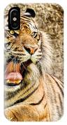 Yawning Bengal Tiger IPhone Case
