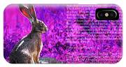 Year Of The Rabbit 2011 . Magenta IPhone Case
