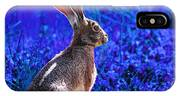 Year Of The Rabbit 2011 . Square Blue IPhone Case