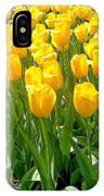 Yelllow Tulip Garden IPhone Case