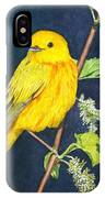 Yelllow Warbler IPhone Case