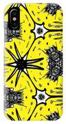 Yellow And Black Abstract IPhone Case