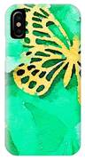 Yellow And Green Butterfly IPhone Case