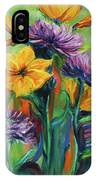 Yellow And Purple Flowers IPhone Case