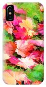 Yellow And Red Fall Maple Leaves IPhone Case