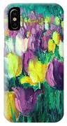 Yellow And Violet Tulips IPhone Case