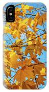 Yellow Autumn Leaves 2 IPhone Case